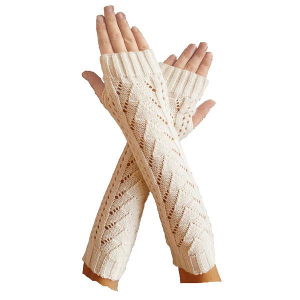 Armstulpen mit Strickmuster / Pulswärmer - Handstulpen - Handschuhe ...