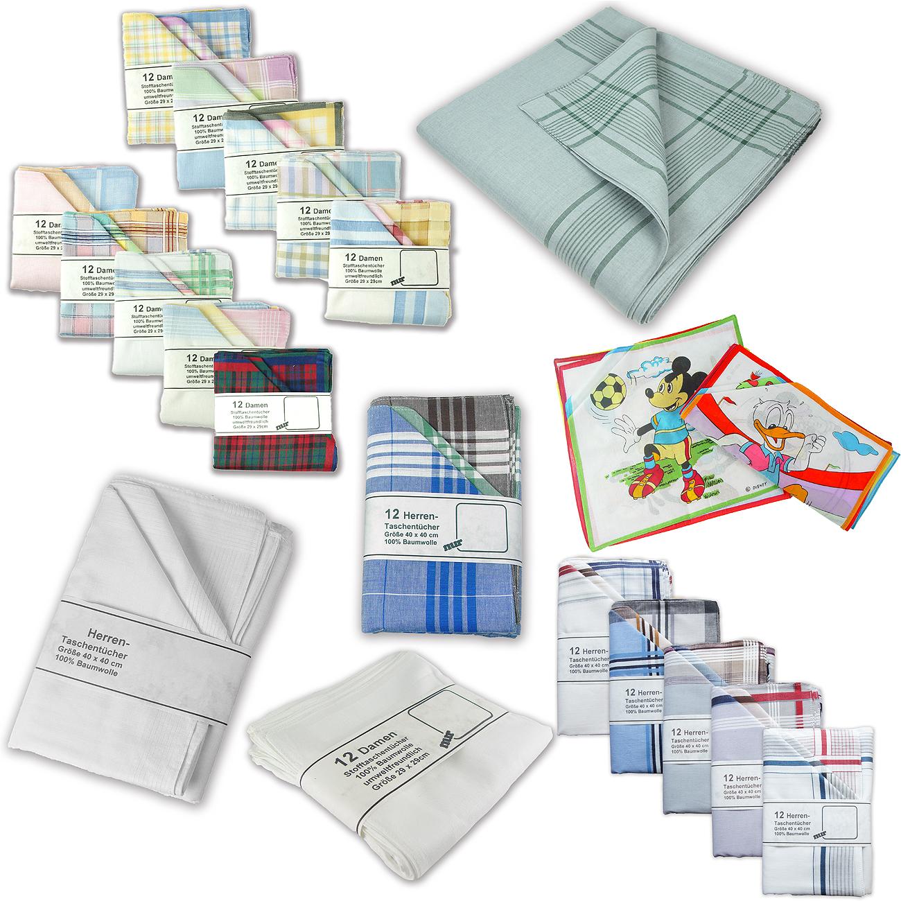 Stofftaschentuecher-100-Baumwolle-weisse-Taschentuecher-oder-andere-Modellen
