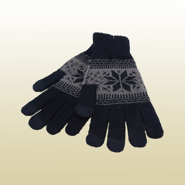 1-Paar-Strick-Smartphone-Handschuhe-Norweger-Muster-Winter-Motiv-Handy-Tablet