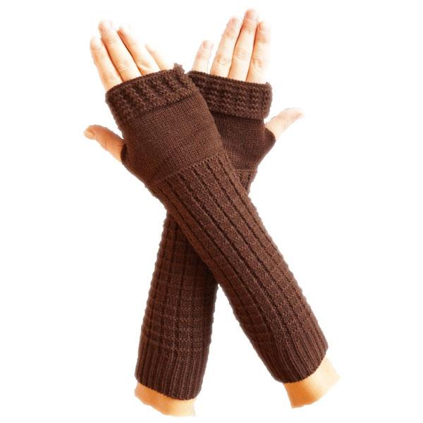 Neu Pulswärmer Armstulpen mit Strickmuster Handstulpen - Handschuhe ...