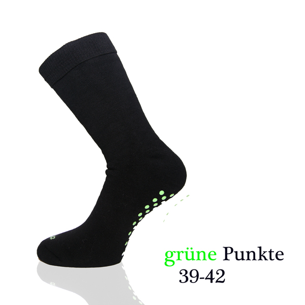 2-Paar-ABS-Antirutsch-Stopper-Socken-Sport-Yoga-Therapiestruempfe-schwarz